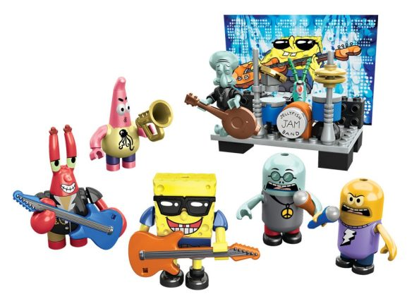 Mega Bloks SpongeBob SquarePants Collectible Figure Pack - Rock Band