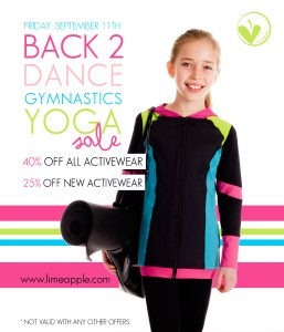 Limeapple Back 2 Activities Sale On September 11th!
