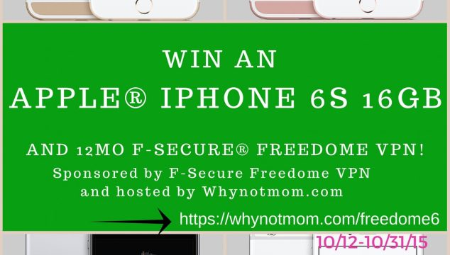 Win an Apple® iPhone 6s 16GB and 12mo F-Secure® Freedome VPN! #PrivacyIsNoGame