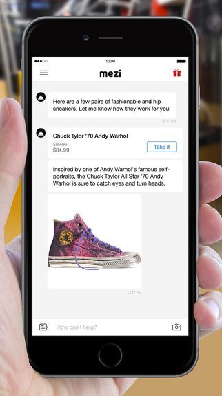 Mezi personal shopping app