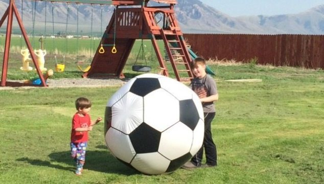 Giant Inflatable Soccer Ball from MindWare!