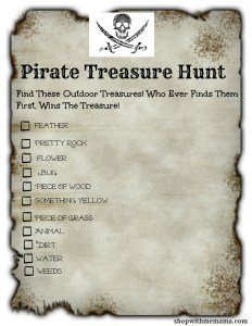 Pirate Treasure Hunt For Kids! (Free Printable)