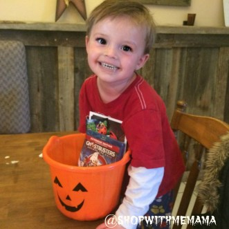 Cute Toddler Boy With Halloween Candy