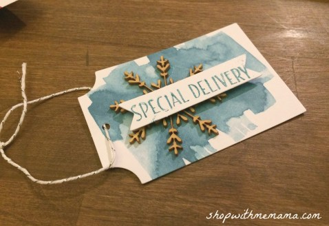 handmade gift tag special delivery