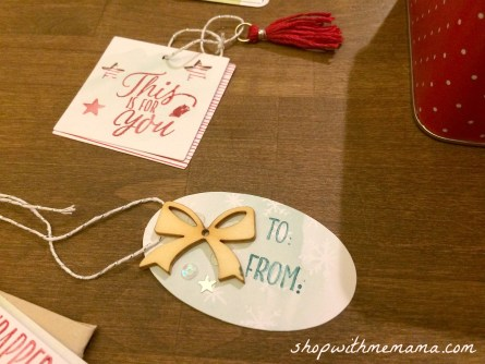 handmade gift tags from stampin up
