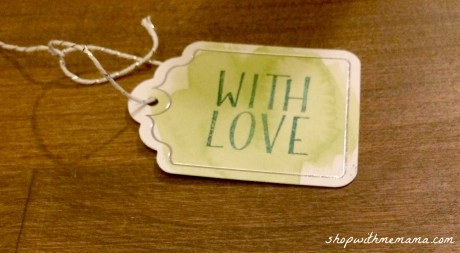 handmade gift tag with love