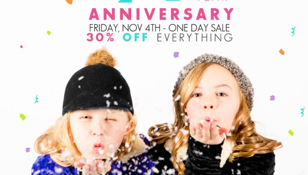 Limeapple's 14 Year Anniversary One-Day Sale! 30% Off Everything!