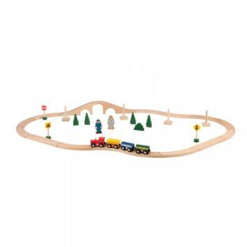 wooden chug along train set