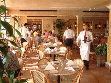 Restaurant with servers
