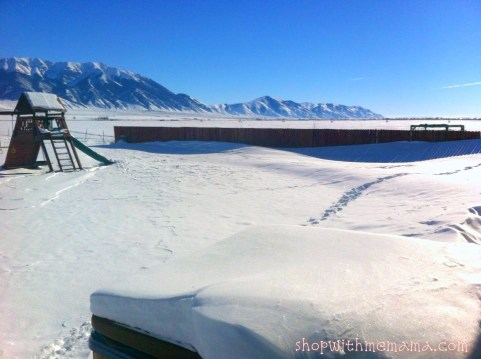deep snow in Idaho