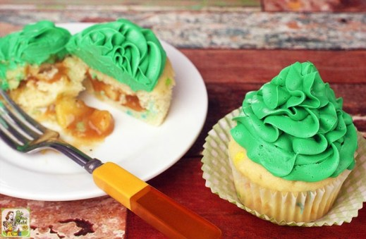 Gluten Free St. Patrick's Day Pot of Gold Filled Cupcakes