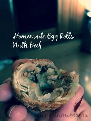 homemade beef egg rolls
