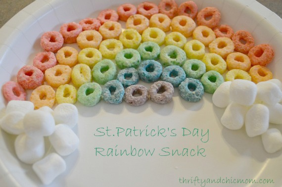 St.Patrick's Day Craft for Preschoolers! Practicing Colors with a Snack!