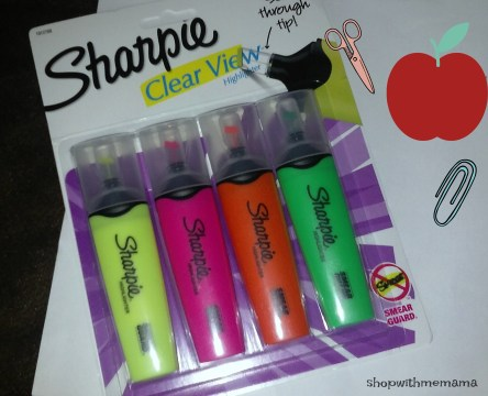 Printable School Supply Checklist and Sharpie Highlighter Pens