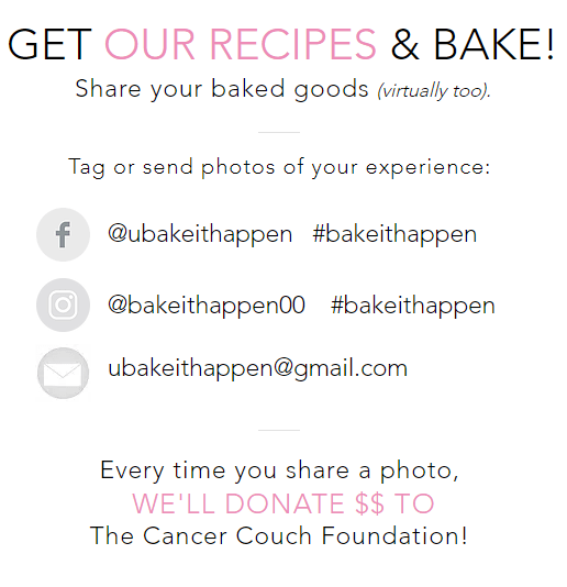 Donate To The Cancer Couch Foundation When You Bake And Share!