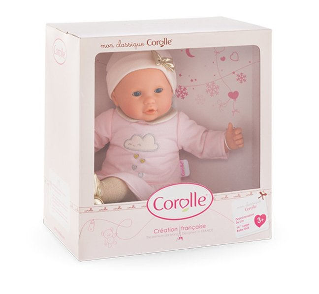corolle mon bebe classique sparkling clouds baby doll shop with me mama. Black Bedroom Furniture Sets. Home Design Ideas