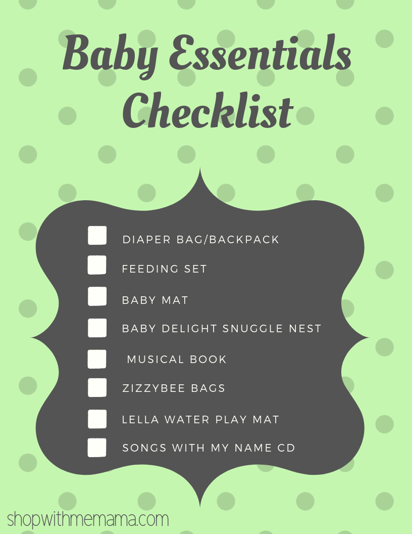 printable checklist for baby