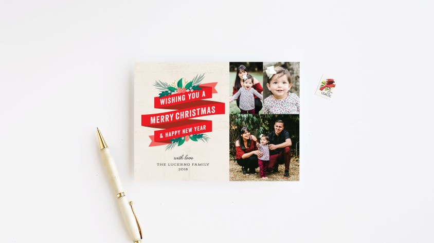 multiple pictures christmas card