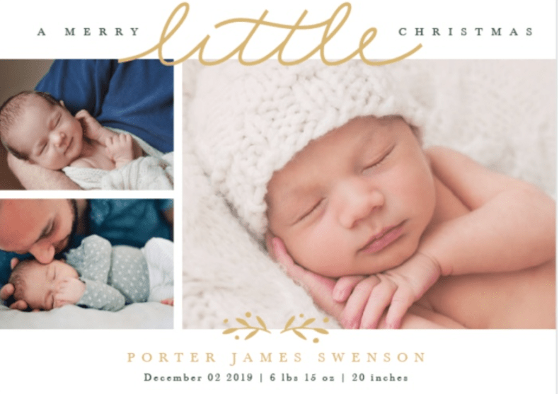 baby announcement christmas cards