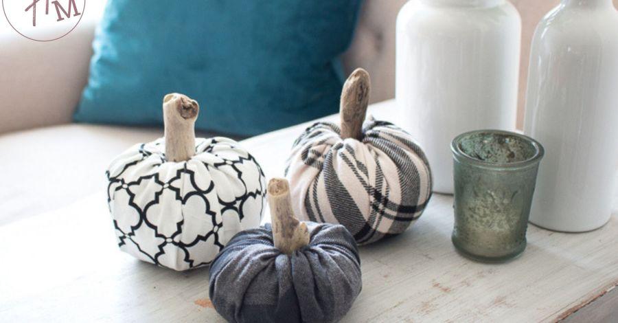 Easy no sew DIY Fabric Pumpkins