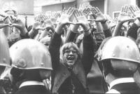 Femministe in corteo negli anni '70