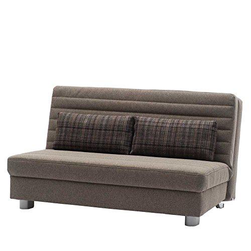 Bettcouch Schlafsofa braun Bastian Breite 160 cm Sitzplätze 3 Sitzplätze Pharao24