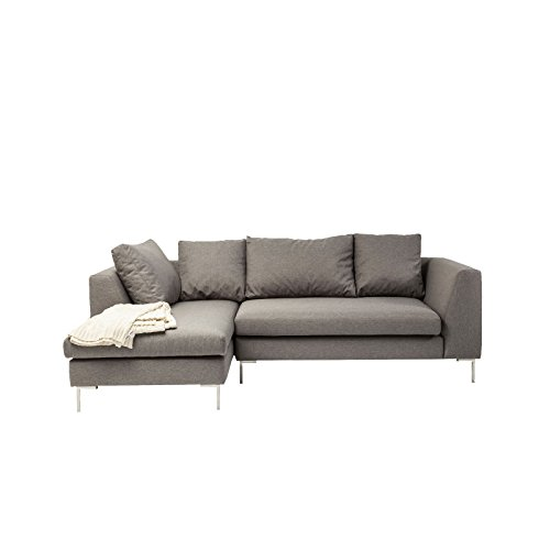 Sofa D Winkel Bruno Panini klein grau links Kare Design