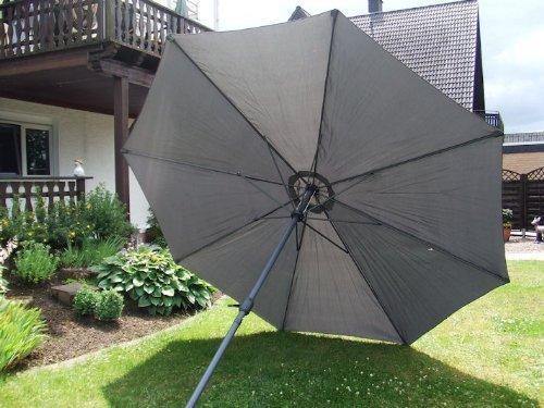 Alu Sonnenschirm 350 cm mit Kurbel in 6 Farben - Kurbelschirm Aluminium 3,5 m
