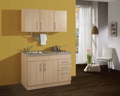Held Möbel 0 Single-Küche 120 mit 2-er E-Mulde