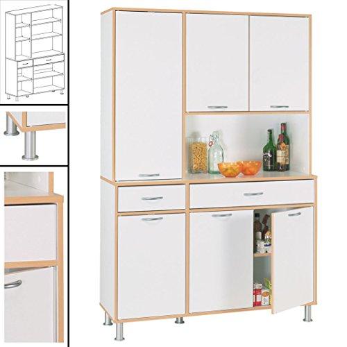 Küchenschrank #048 Küchenzeile Küche Singleküche Küchenregal Schrank Badschrank weiß Holz