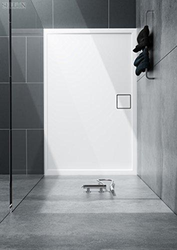 Duschwanne Duschtasse Eckig Acrylwanne Flach Stabil 90x100x5.5 Duschplatte Duschboard System Stabilsound ®
