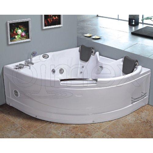 """OimexGmbH Eckwhirlpool 150 x 150 cm 2 Pers. """"Helsinki"""" Whirlpool Badewanne"""