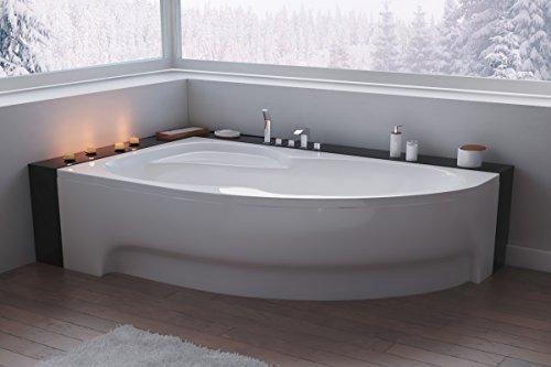 bestshop24.eu EXCLUSIVE LINE North Bath Alice Eckbadewanne Acryl 160x100 cm Links, mit Schürze Ablauf TOP Qualität