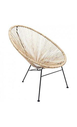 Kare Design–Sessel aus Seil Leinen natur Spaghetti
