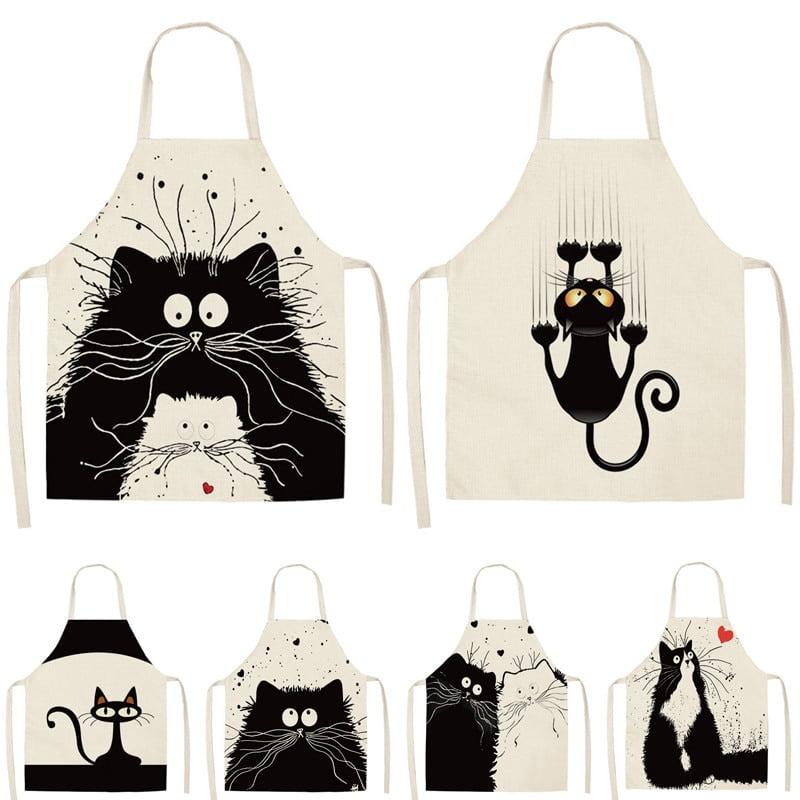Women's Cat Printed Kitchen Apron