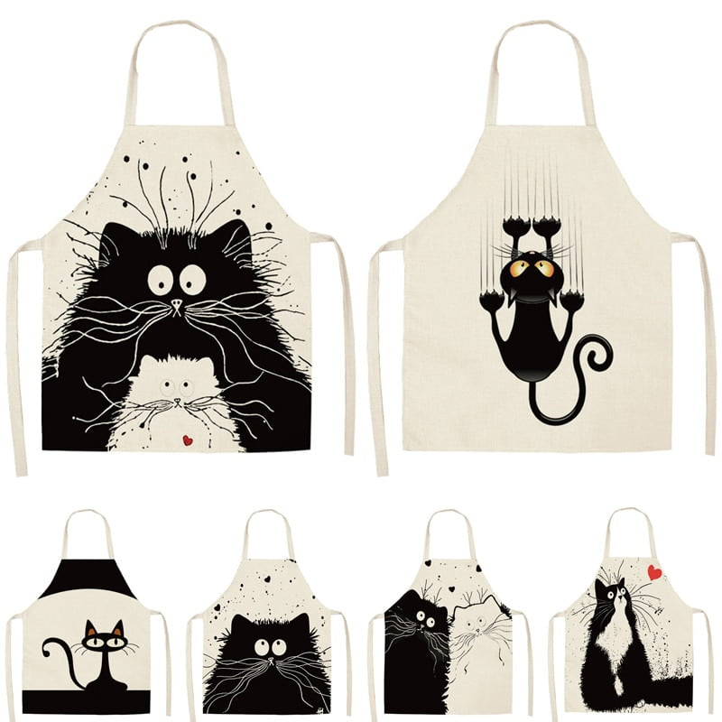 Women's Cat Printed Kitchen Apron