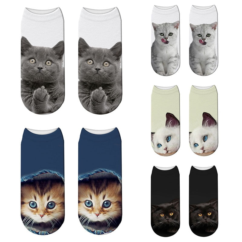 Women's 3D Cat Print Socks