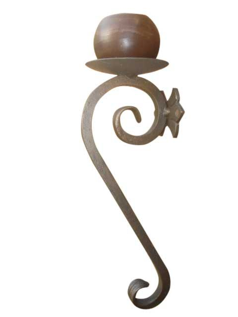 Decorative Metal Wall Candle Sconce | Shoreline Ornamental ... on Large Wall Sconces Candle Holders Decorative id=37419