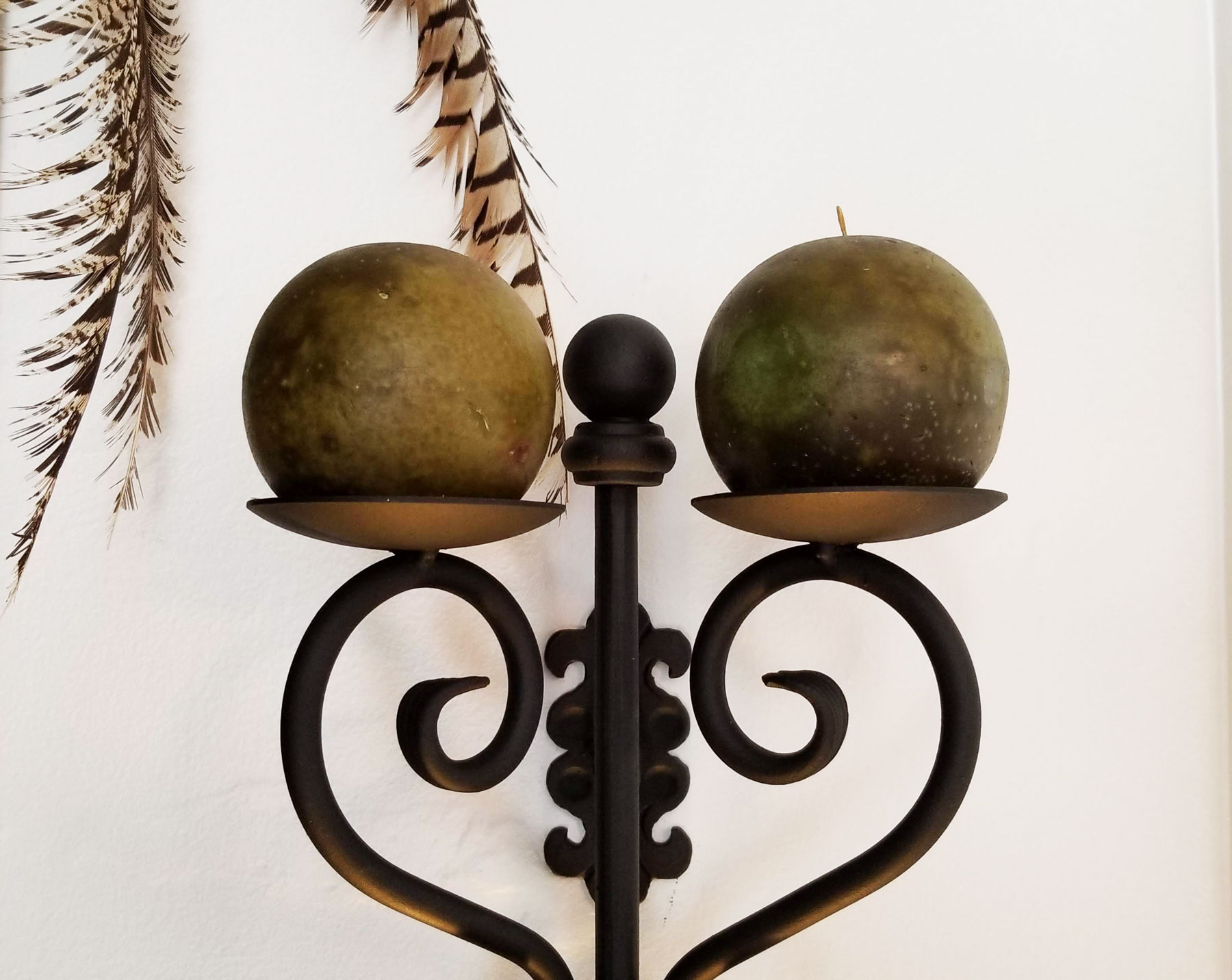 Wrought Iron Wall Sconce-Unique Craftsmanship in Handmade ... on Black Wrought Iron Wall Candle Holders id=75099