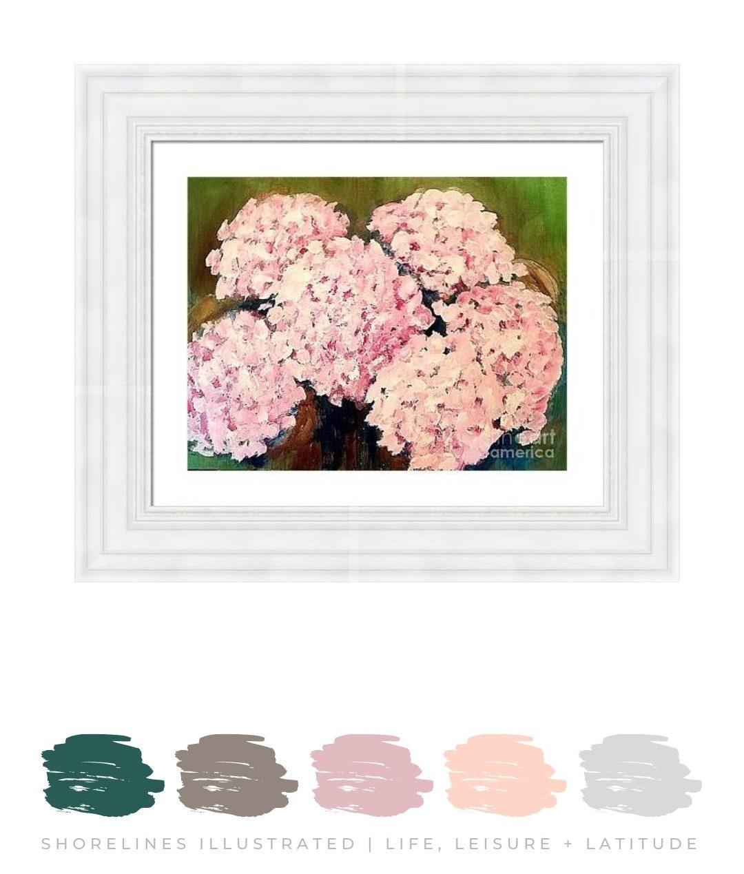 Pink Hydrangea Wall Art from $60 | FineArtAmerica.com