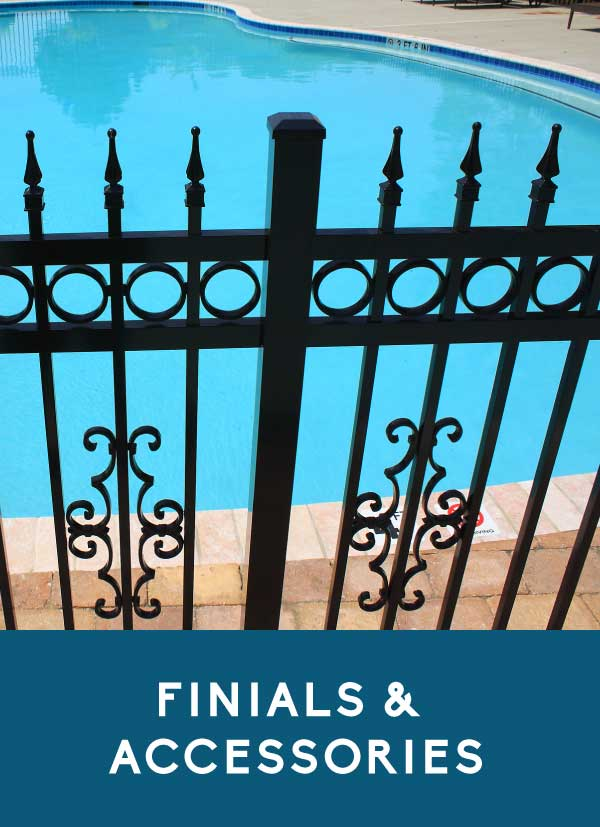 Finials & Accessories for aluminum fencing products by Coastal Aluminum