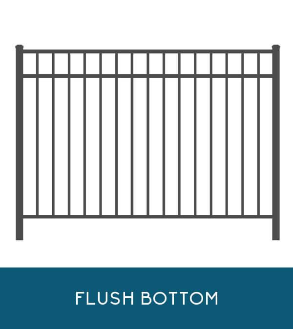 Bay Breeze aluminum fencing with flush-bottom pickets | Coastal Aluminum