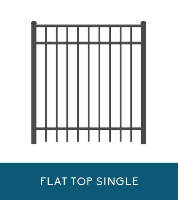 Flat-top single gate for Coastal Aluminum fencing products