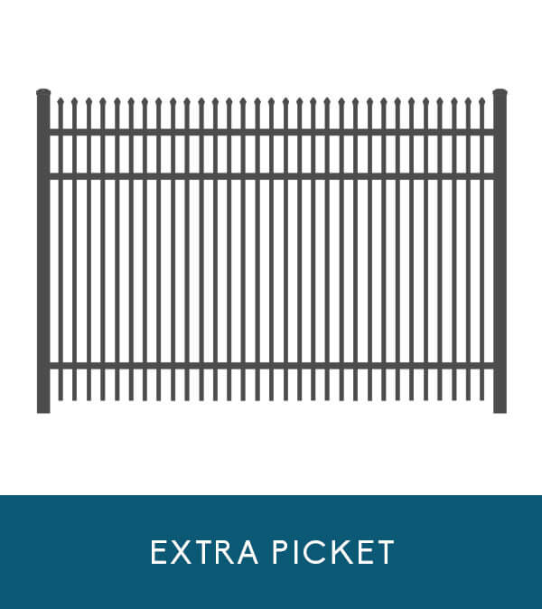 Sailwind aluminum fencing with extra picket | Coastal Aluminum