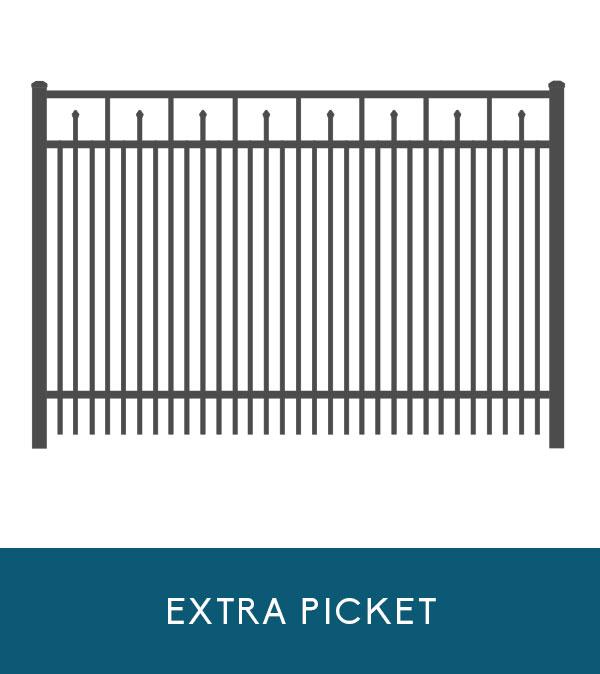 Waterfront aluminum fencing with extra picket | Coastal Aluminum