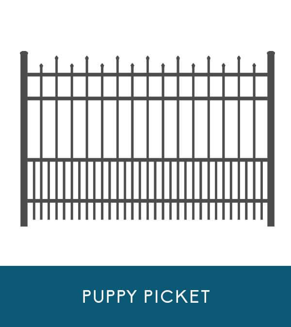 Wavecrest aluminum fencing with puppy picket | Coastal Aluminum
