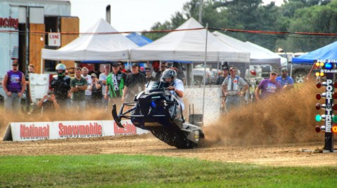 Grass Drags snowmobile princeton