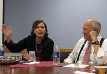 Susan Crawford and Shorenstein Center director Alex S. Jones.