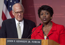 Alex S. Jones with Gwen Ifill