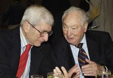 Marvin Kalb and Walter H. Shorenstein.
